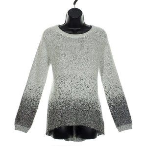 SOY CONCEPT Glitter Tunic Sweater High Low Gray